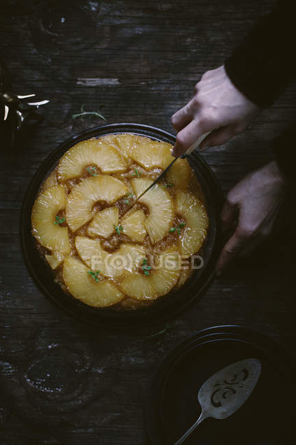 Des gâteaux ananas — Photo de stock