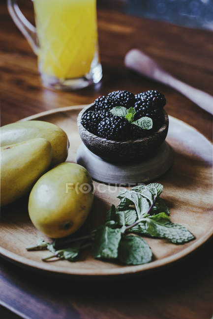 Mangue et Blackberry Vodka Cooler — Photo de stock