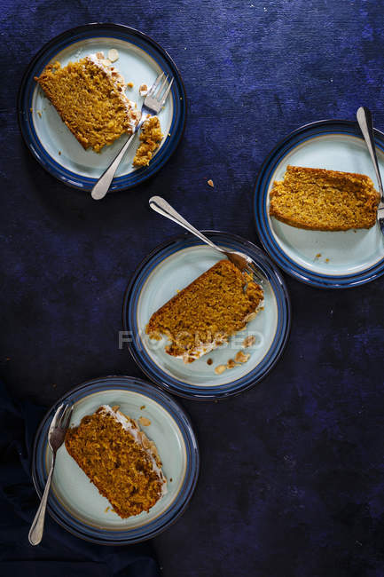 Torta di carote cardamomo — Foto stock