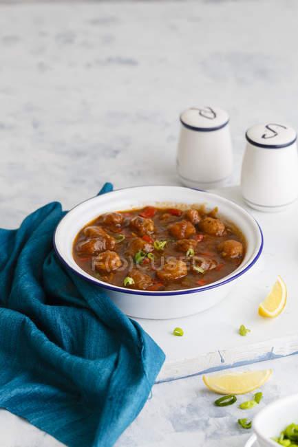Соевое маньчжурской блюдо — стоковое фото