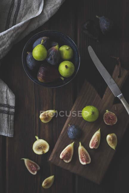 Fresh cut Figs — Stock Photo