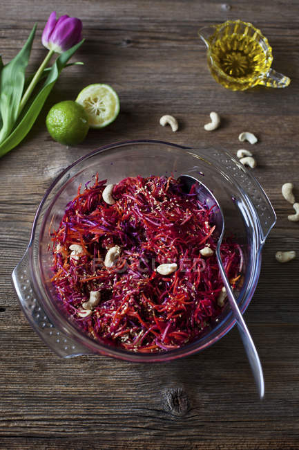 Салат з Червоної капусти — стокове фото