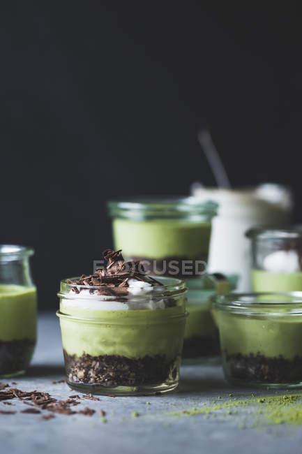 Matcha м'ятою коник пироги — стокове фото