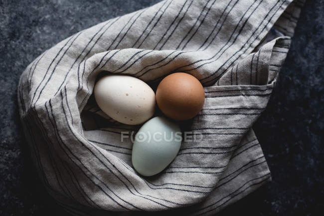 Various colored eggs — Stock Photo