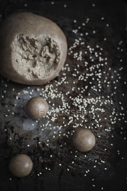 Biscuits tahini processus de cuisson — Photo de stock