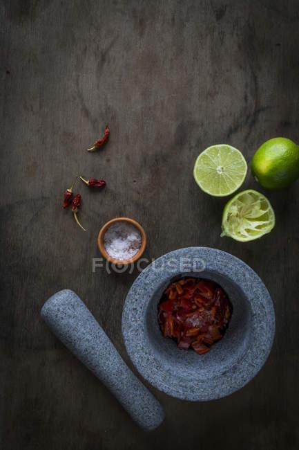 Chili paste cooking — Fotografia de Stock