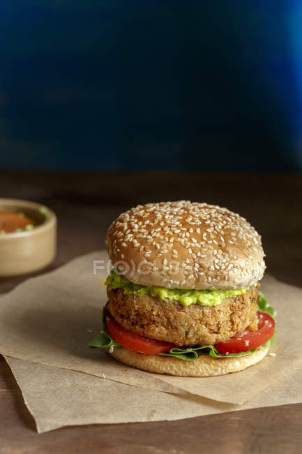 Vegetarian Chickpeas Burger — Stock Photo