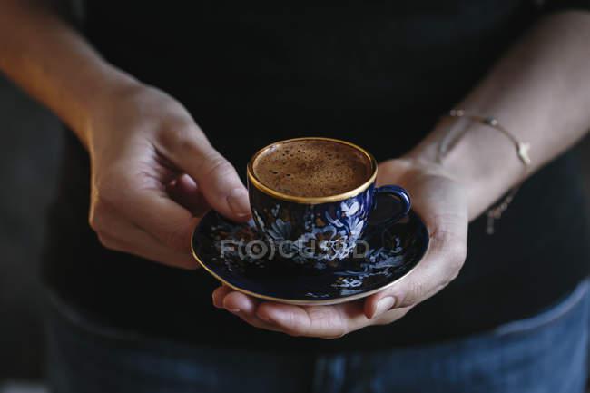 Turkish coffee cup — Stock Photo