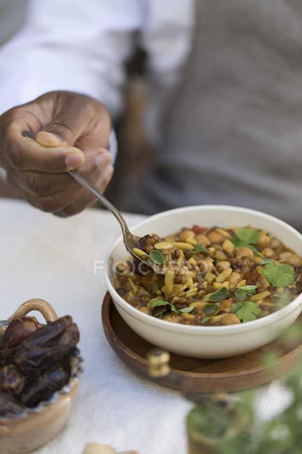 Herzhafte indische Suppenharira — Stockfoto