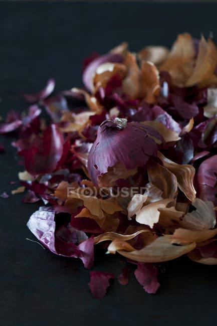 Tingem de peles de cebola, ovos de Páscoa — Fotografia de Stock