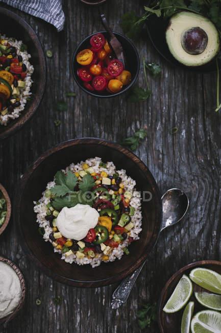 Burrito mexicain à la crème de noix de cajou — Photo de stock