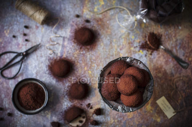 Chocolate vegetarian eggless cookies — Stock Photo