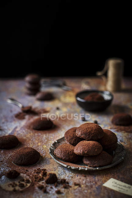 Galletas chocolate vegetariano - foto de stock