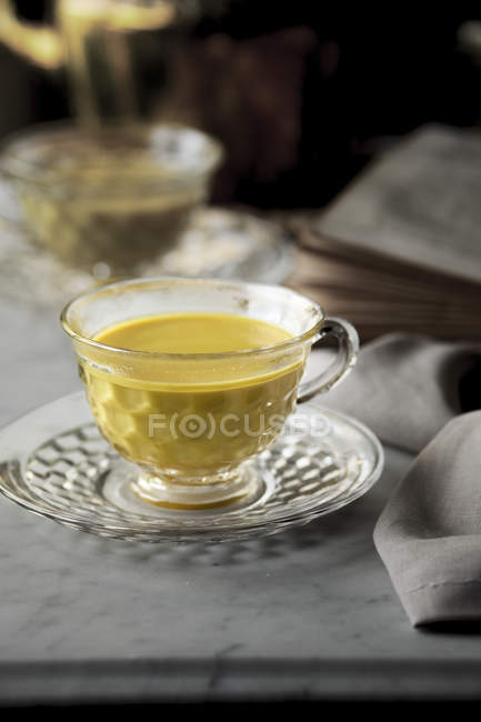Turmeric Milk in cups — Stock Photo