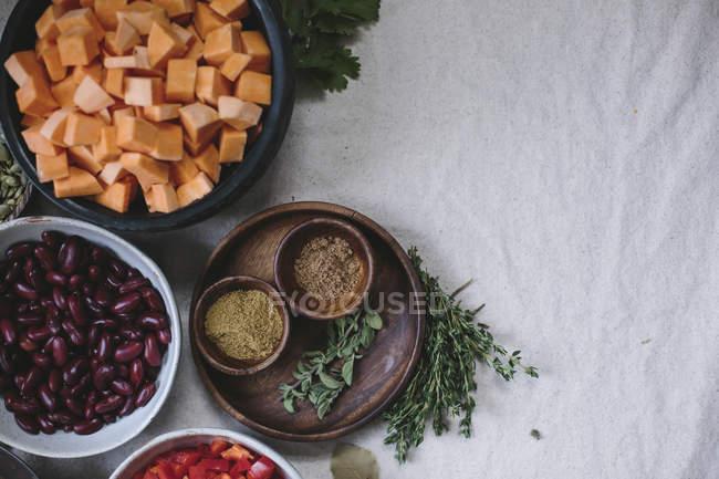 Солодкий картопля і кукурудза шоколад Чилі — стокове фото