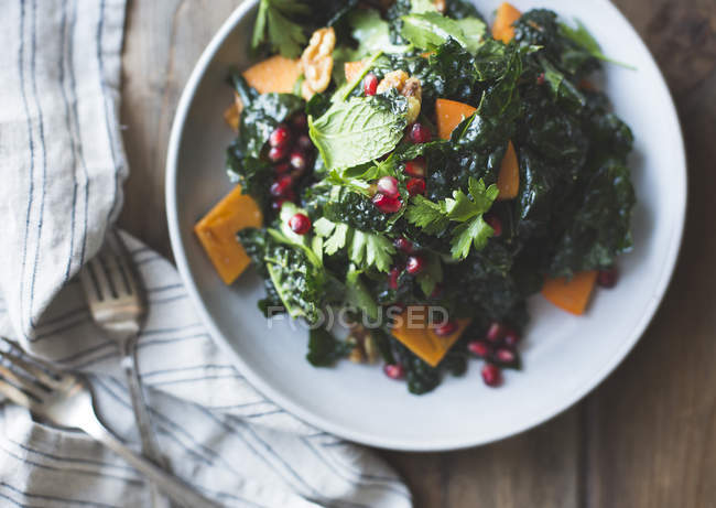 Salada de couve com ervas — Fotografia de Stock