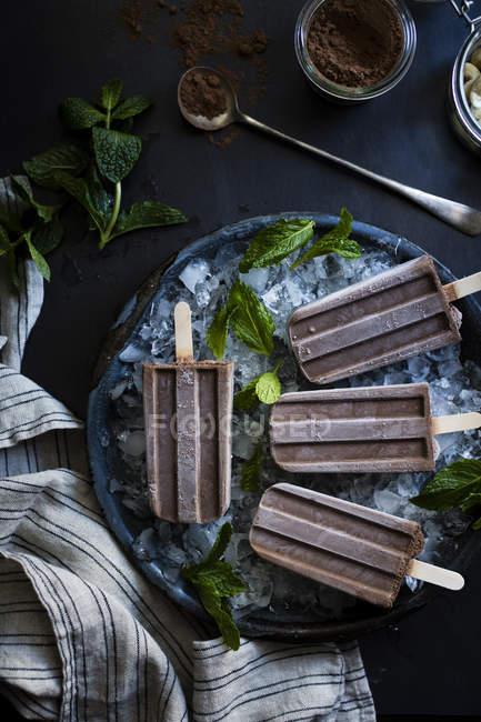Sucettes au chocolat menthe Ceamy — Photo de stock