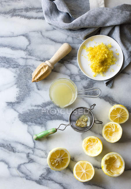 Citrons frais pour la cuisson — Photo de stock