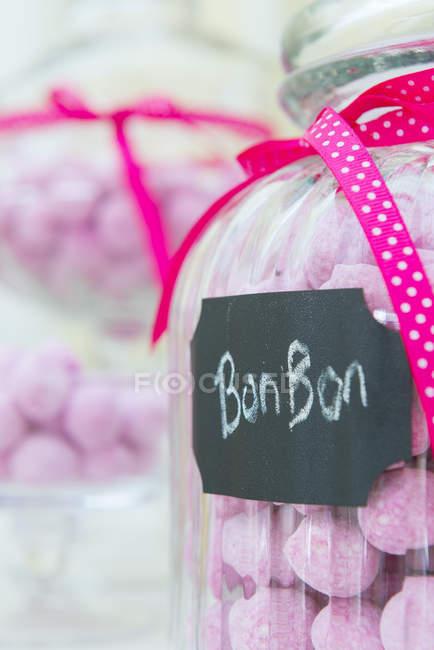Strawberry bonbon sweets — Stock Photo