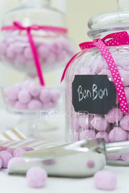 Erdbeerbonbons — Stockfoto