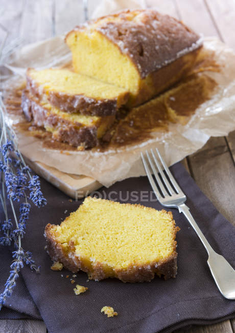 Torta di limone pioggerella — Foto stock