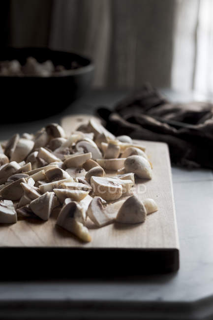 Fresh Raw Mushrooms — Stock Photo