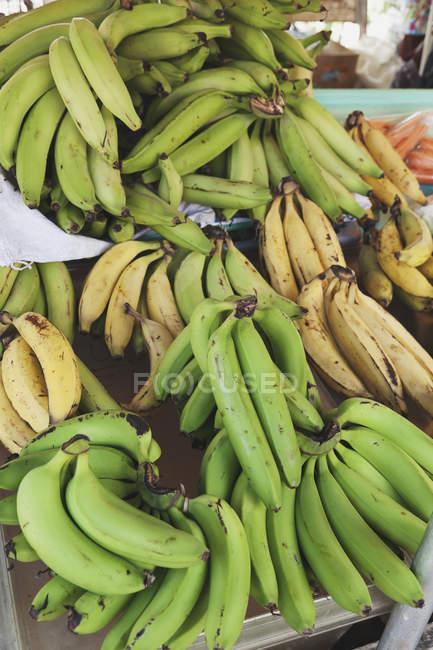 Свіжі банани на ринку — стокове фото