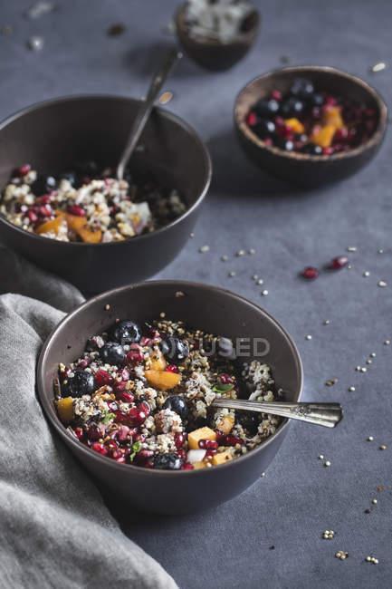 Coconut Quinoa Porridge with Berries — Stock Photo