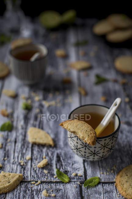 Galletas de mantequilla libres de gluten - foto de stock