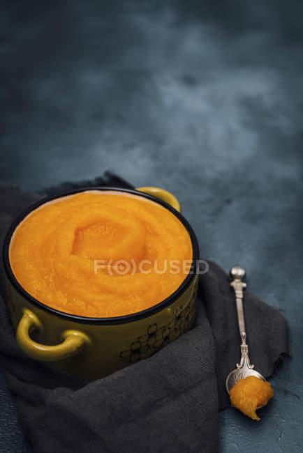 Домашнее свежей тыквы Soupe — стоковое фото