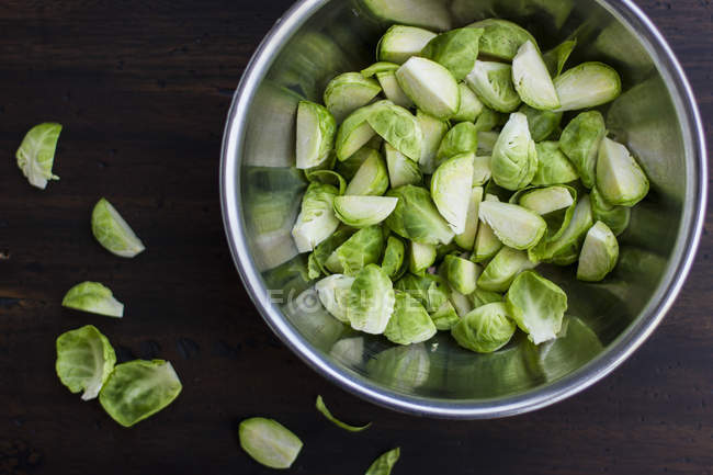 Quartered Brussels Sprouts — Stock Photo