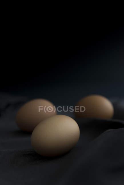 Fresh organic eggs — Stock Photo