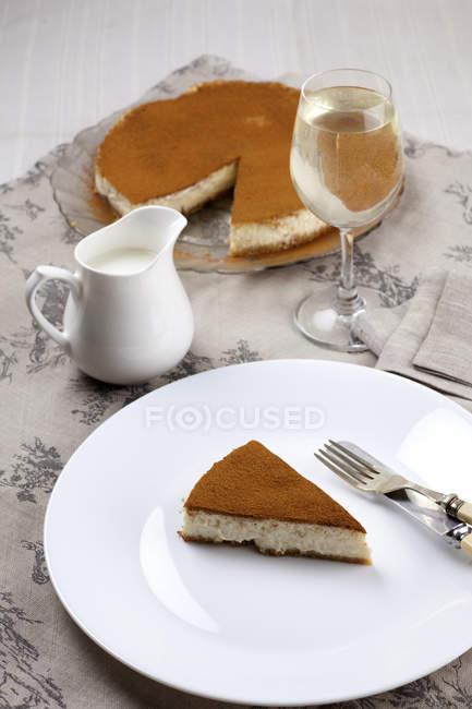 Cheesecake al forno fatti in casa — Foto stock
