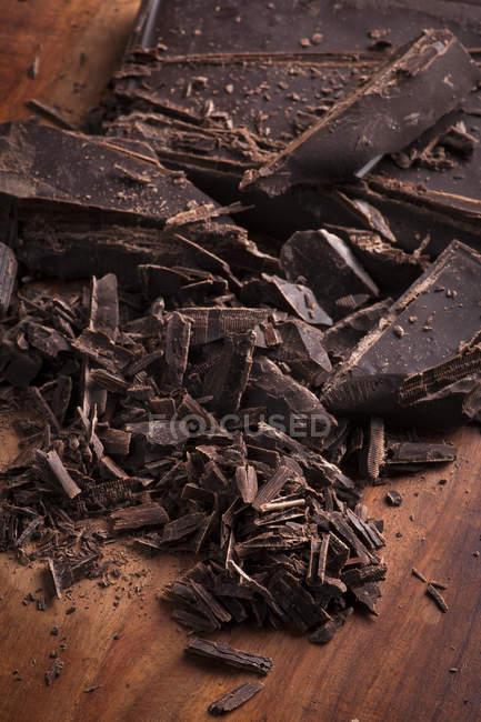 Шматки шоколад у плитці — стокове фото