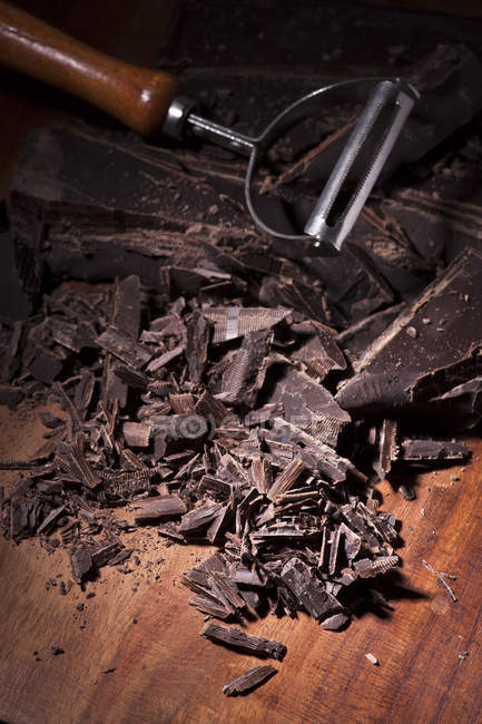 Morceaux de barre de chocolat — Photo de stock