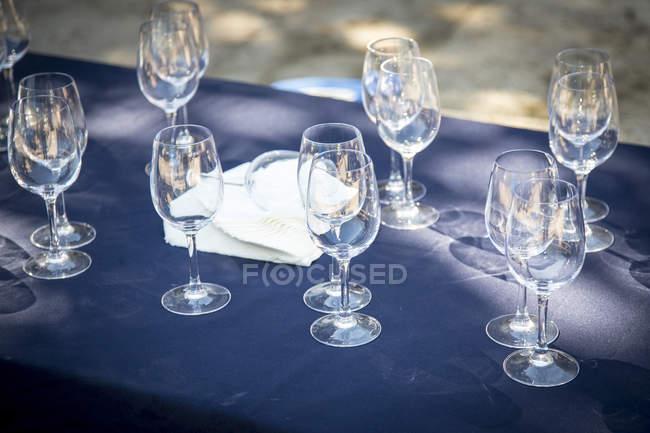 Wine tasting table — Stock Photo