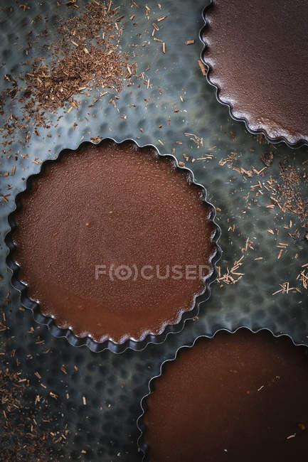 Шоколад pannacotta еспресо — стокове фото