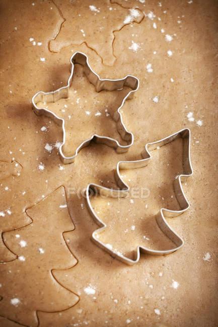 Lebkuchen-Cookies machen — Stockfoto