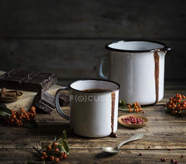 Tasses au chocolat chaud — Photo de stock