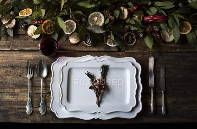 Осінній настройки таблиці — стокове фото