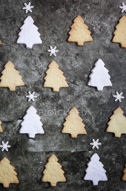 Рождественские елки форменных печенья — стоковое фото