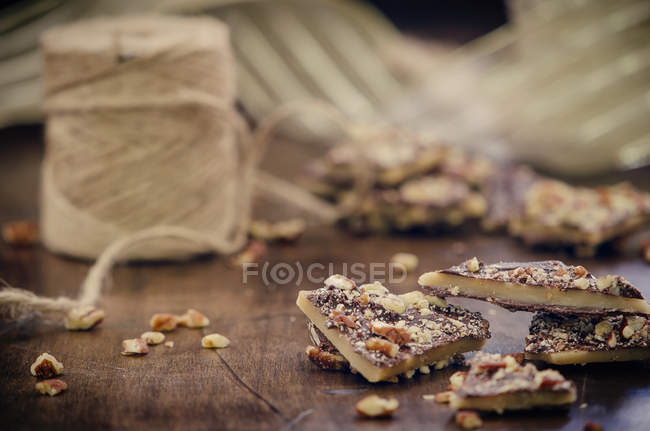Pieces of Christmas Toffee — Stock Photo