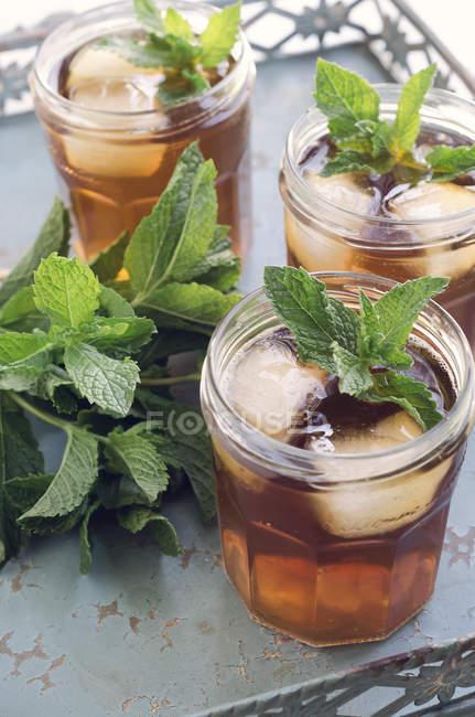 Thé glacé à la menthe — Photo de stock