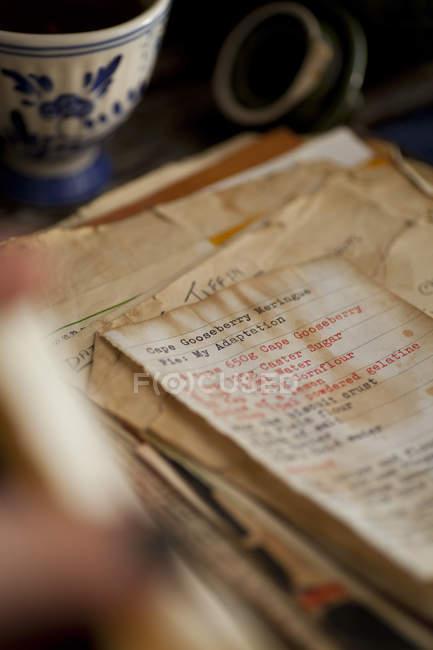 Libro di ricette di famiglia — Foto stock