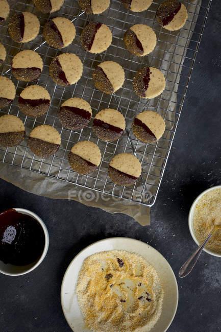 Biscuits sablés au chocolat — Photo de stock