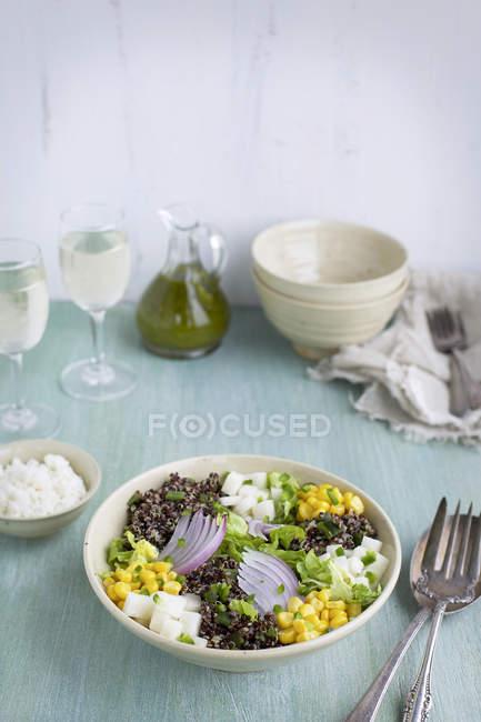 Roasted Poblano Quinoa Salad — Fotografia de Stock