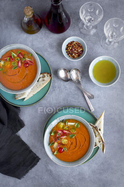 Roasted Tomato Herb Soup — Stock Photo