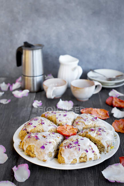 Persimmon Rose Scones — Stock Photo