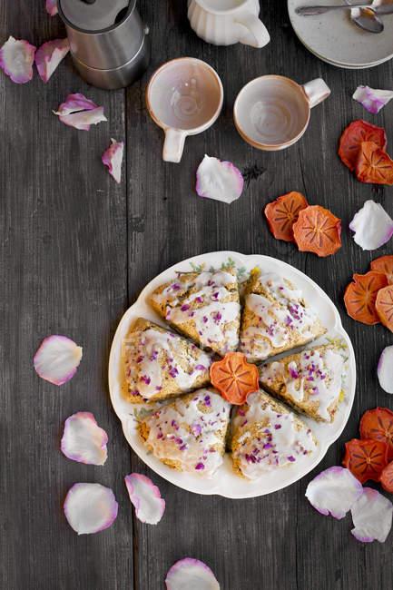 Persimmon Rose Scones — Stock Photo