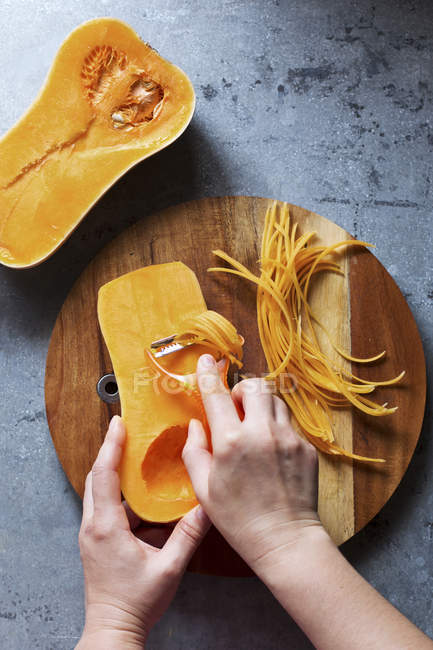 Butternut squash noodles — Stock Photo